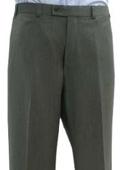 SKU#BCK441 Mantoni~Bertolini Umo Brown Pin Dot Flat Front Separate Pant $95
