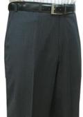 SKU#ENA734 Mantoni~Bertolini Umo Charcoal Multi Stripe Flat Front Pant Pre-hemmed bottom $105
