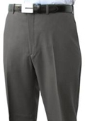 SKU#VBS923 Mantoni~Bertolini Umo Flat Front Pant 100% Superfine Wool Pre-Hemmed $85
