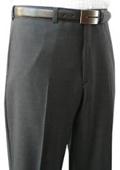 SKU#EJK956 Mantoni~Bertolini Umo Grey Shadow Stripe Flat Front Pant 100% Superfine wool $95