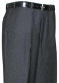 SKU#RFH553 Mantoni~Bertolini Umo Grey Stripe CK Flat Front Pant $99