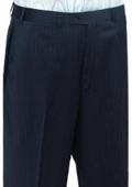 SKU#HGT459 Mantoni~Bertolini Umo Navy Stripe CK Flat Front Pant $99
