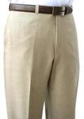 SKU#PSK481 Mantoni~Bertolini Umo Tan Flat Front Pant 100% Superfine wool $95