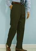 SKU#GK511 PA-100 Olive premeier quality italian fabric Flat Front Mens Wool Dress Pants Hand Made Relax Fit $69