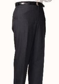 SKU#CB2804 Charcoal Blue Bond Flat Front Trouser $99