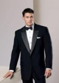 One Button Black Tuxedo