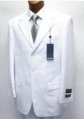SKU# XXA948 Cheap Quality No lining  3 button Stylel White Suit $79