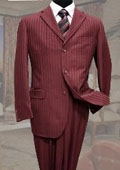 3PC 3 Button Burgundy