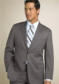 SKU#AM2B Classic Two Button Mid Gray~Grey(Not Very light  & Not Dark Gray) Business Suit $175