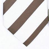 Silk White/Brown Woven Necktie