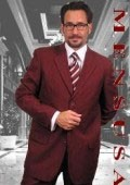 Dark Burgundy ~ Maroon ~ Wine Color~Wine 2or3 buttons Mens Dress Suits $109