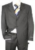SKU#KY-93  Dark Charcoal Gray Men's Single Breasted Discount Dress 2or3or4 Button Suit $79