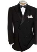 SKU#AP-230 Black Double Breasted Tuxedo Jacket + Pants $149