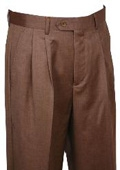 SKU#WE412 Dress Pants Bronze Pattern Wide Leg Wool $99