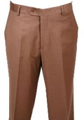 SKU#KA345 Dress Pants Chesnut Non Pleated Pants $89
