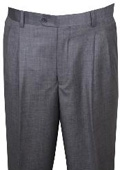 SKU#KL110 Dress Pants Light Gray Wool Wide Leg Pants $99