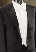 Full Dress Tuxedo Tail in Black or White $299