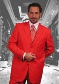 SKU# LDW823 Elegant Solid Red Mens Dress Suits $99