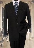 Black 1 Button Suit