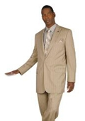 One Button Pinstripe Suit