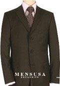 SKU# BNC920 Extra Long Dark CoCo Brown Suits in Super 150s premeier quality italian fabric Wool Suit MensUSA Exclusive Line, Vented $199