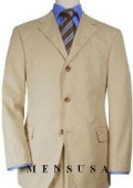 SKU# AOM854 Extra Long Tan/Beige Suits in Super 150s premeier quality italian fabric Wool Suit MensUSA Exclusive Line, Vented $199