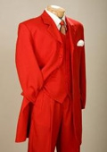 SKU#EMIL_58TA Fashionable Fire Engine Red Men's Zoot Suits $109