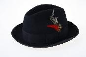 Mens Black Wool Fedora