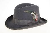 Gray Wool Felt Fedora