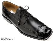 Genuine Alligator/Calf Shoes Black