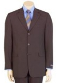 SKU# L5-99 Fine Men's Modern Brown 100% Pure year round Wool 2/3-button Suit $99