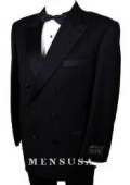 SKU# W110 Finest Quality Classic Style 6 on 2-Button Peak Lapl Double Breasted Tuxedo Suit Suit $695
