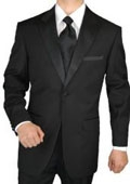 SKU#MQ2937 Giorgio Men's Tuxedo Suit 1 Button 2pc Peak Lapel Jacket with Flat Front Pants $179