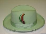 God Father Mint 100% Wool Homburg Dress Hat 4201 $69