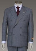 Double breasted Light Gray (Steel Gray) Jacket and Pant 6 on 2 Button Closer Style Jacket $185