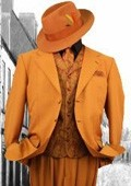 Brick-Orange 3PC Fashion Zoot