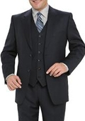 SKU# 771 High Quality Navy Blue 2 Button Vested 100% Wool Mens Suits Notch lapel Vented $159