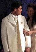 "SKU# 772 Ivory/OffWhite Vested 35.5\"" Length Coat Notch Lapels Self Top Collar Self Flap Pockets Seve"