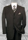 BLACK W/ WHITE PINSTRIPE