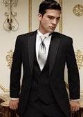 SKU#AL4887 Jean Yves Ridge Basic Notch Tonal Tuxedo Black $256