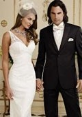 SKU#BF8470 Jean Yves Ridge Basic Peak Tonal Tuxedo Black $256