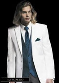 SKU#VB4392 Jean Yves Twilight Two Button White Tuxedo $256