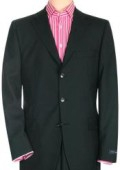 SKU# ZT34 Jet Power Black Solid Black With Sheen!! Super 150's Men's Suit Side Back Vent $149