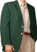 SKU#KL4994 Kelly Green Two Button Blazer Wool Blend (Men + Women) $175