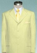 SKU#MUTC74 Light Pale Yellow~Champagne Dress Party lightweight and comfortable Suit $115