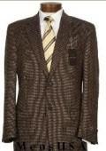 2 Button Mini Pindots Teakweave Nailhead Salt & Pepper Birdseye Patterned Texture Brown Business Suit $159