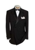 SKU#GBB79 Luxurious Double Breasted Tuxedo includes Shirt, & Bow Tie Package $149