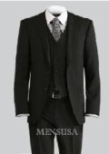 SKU# BEV774 Luxurious Top Quality UMO Collezion 2 Button Solid Vested Suits 100% Wool Mens Suits Com $199