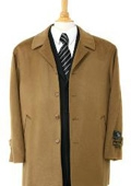 Sloan Luxurious high-quality Cashmere&Wool half-length notch lapel Camel Color topcoat $199