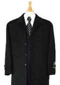 Sloan Luxurious high-quality Woo&Cashmere half-length notch lapel Jet Black topcoat $199